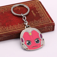 HSIC 10pcs/lot Wholesale Cartoon Ant Man Keychain Anime Vision Car Keychain Jewelry Key Holder Llaveros Game Anime Jewelry Gifts