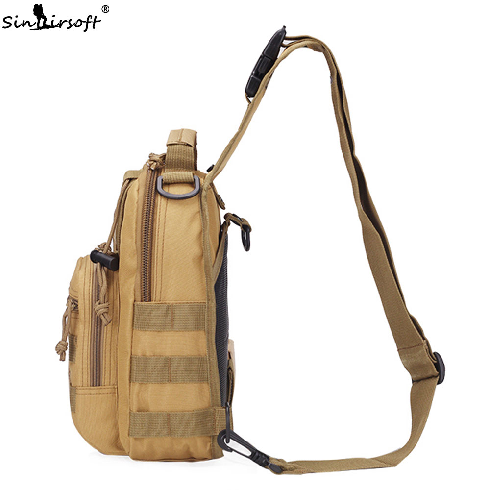 Camping & Hiking Military Tactical Chest Pack Fly Equipment Nylon Wading Chest Pack Cross Body Sling Single Shoulder Bag