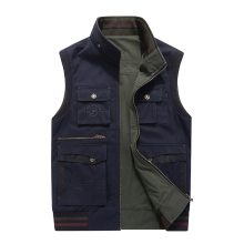 AFS JEEP Vest for Men Multi-pockets fishing hunting photography Military Jacket Brand Vest Reversible Waistcoat Plus Size 5XL