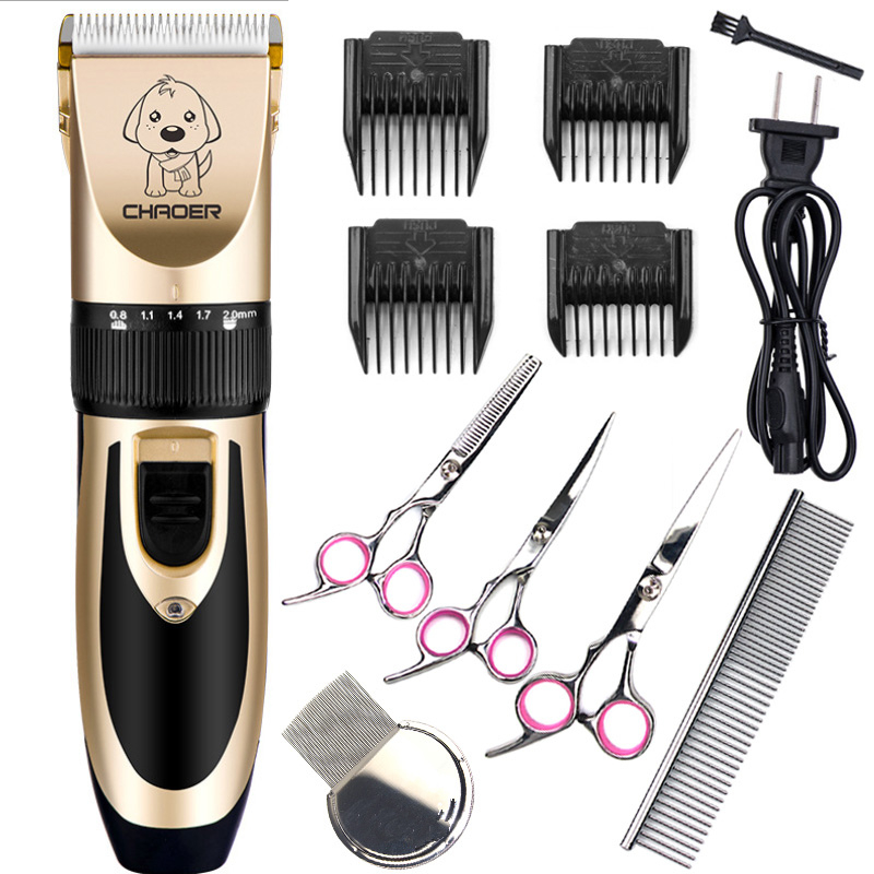 Rechargeable Grooming Kit Pet Cat Dog Hair Trimmer High Quality Electrical Clipper Shaver Set Haircut Machine 4.1S1