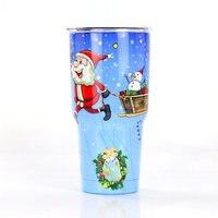30oz cold Vacuum Stainless steel car mug Christmas Mug New ice beer Cup Insulated Water Bottle Vacuum Flask Coffee Mug Xmas Gift