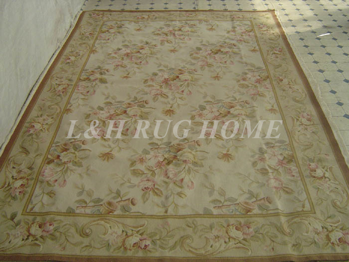 Free shipping 12'X15.35' French aubusson carpets European Style abusson hand weave carpets for home deocation