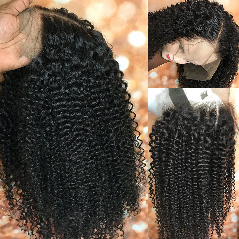 Kinky Περσικές Lace Περούκες Lace Μπροστινή - Ανθρώπινα μαλλιά (για μαύρο) - Φωτογραφία 6