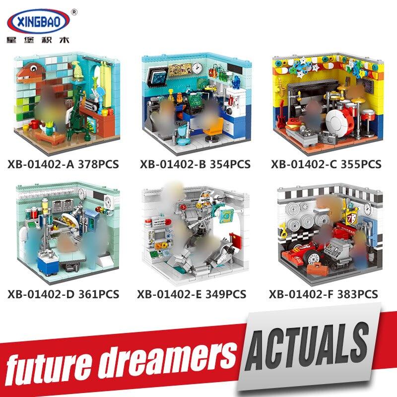 XINGBAO 01402 Genuine Building Series The Future Dreams House Set Building Blocks Bricks Educational Kid Toys As brithday Gifts 72pcs educational building blocks set