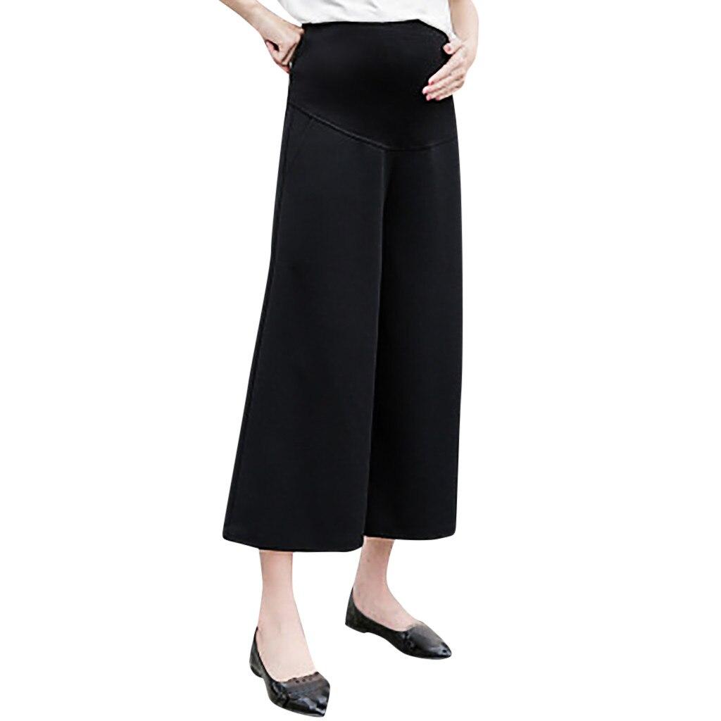 MUQGEW для беременных женские с высокой талией брюки для беременных комфорт Опора помоев леггинсы модные Беременность брюки M-XXL - Цвет: Черный
