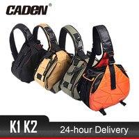 Caden DSLR Camera Sling Bag Digital Photo Bag Shoulder Waterproof Backpack Padded Insert Case Bag with Rain Cover for Canon Sony
