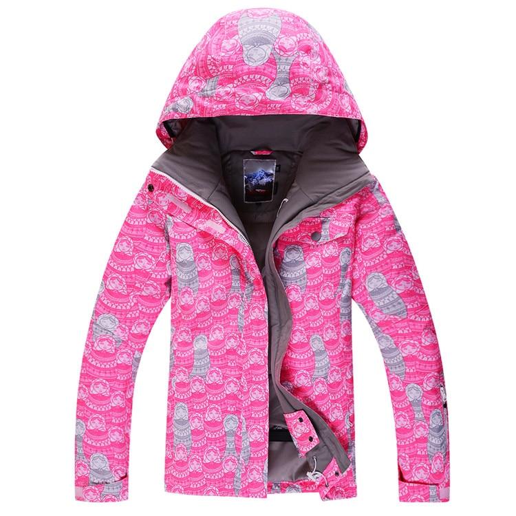 2014 gsou snow womens ski jacket pink snowboarding jacket skiwear riding climbing skating jacket  waterproof 10K breathable XS-L 2016 womens color matching ski jacket blue pink gray snowboarding jackets skiing jacket for women anorak skiwear 10k xs l