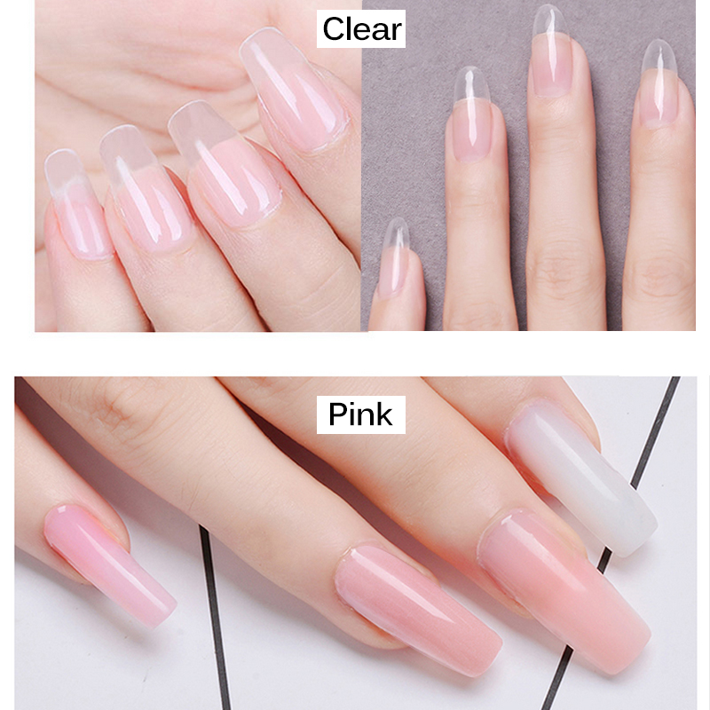 Acrylic Powder Crystal Nail Polymer Uv Gel Design For Extension Tips False Art 1 Pack 100g Pink Clear White 3 Colors In Powders Liquids