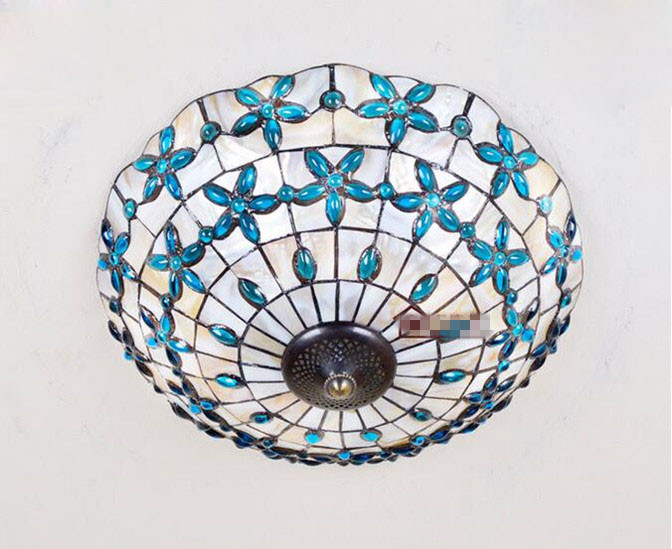 Lilac Shell Ceiling Lamp 15