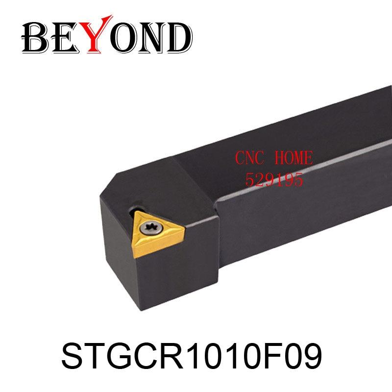 OYYU STGCR1010 STGCR Lathe Cnc Boring Bar STGCR1010F09 External Turning Tool Holder STFCL Tungsten Carbide Inserts TCMT090204