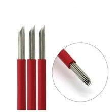 20 ピース Laminas Tebori Microblading 円形ベベル R 19 ピンラウンドライナーブレード 19RL タトゥー針眉毛