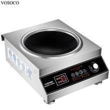 Vosoco электромагнитное печь вогнутой индукционная плита 5000 Вт питания бытовой коммерческий электромагнитное печь для приготовления пищи тепла питания