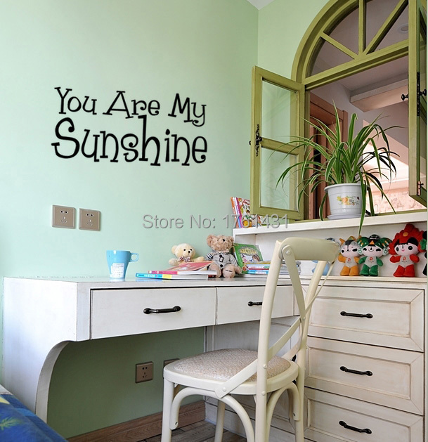 Sunshine Wall Decal PromotionShop For Promotional Sunshine Wall - Wall decals you are my sunshine