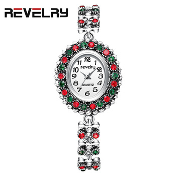 2019 Top Brand REVELRY Luxury Rhinestone Bracelet Watch Women Quartz Watches Ladies Wristwatch Relogio Feminino Reloj Mujer dwg brand slim blue watch bracelet quartz watch for women waterproof pu leather rhinestone analog wristwatch classy ladies reloj
