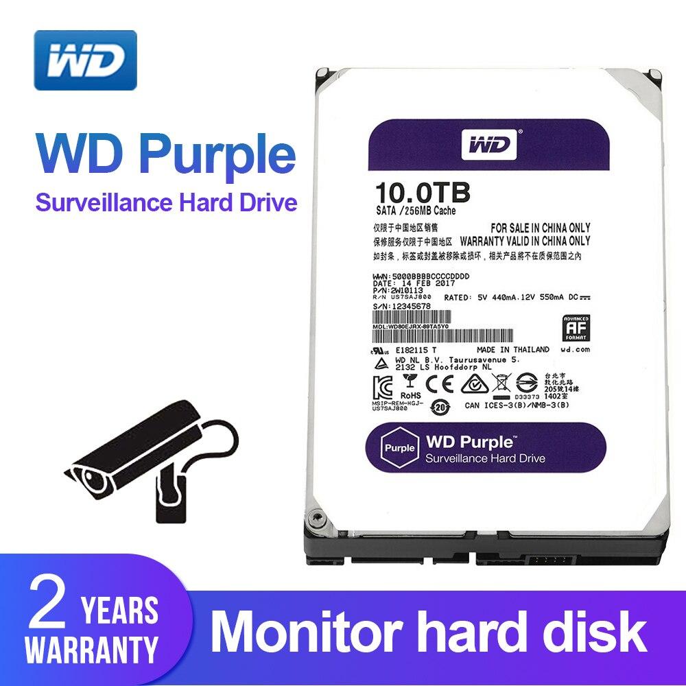Western Digital WD Purple 10TB Surveillance HDD 256MB SATA 6Gb S 3 5 Internal Hard Drive