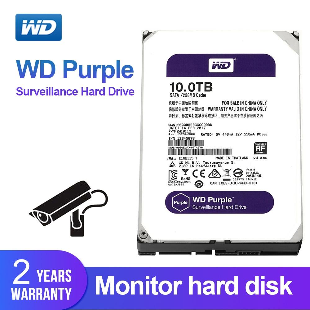 Western Digital WD púrpura 10 TB vigilancia HDD 256 MB SATA 6 Gb/S 3,5