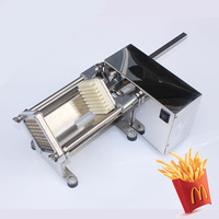 Electric Stainless Steel Fries Machine Potato Cutting Machine Slitter Fires Maker Vegetable Cutter 220V