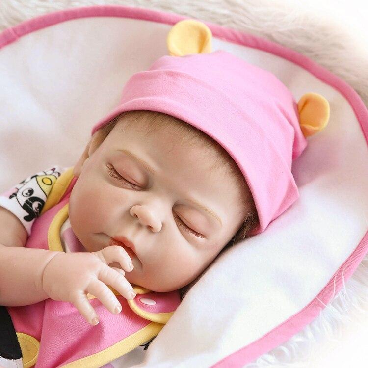 """23/"""" Lifelike Reborn Newborn Baby Doll Full Silicone Vinyl Bath Sleeping Girl Toy"""