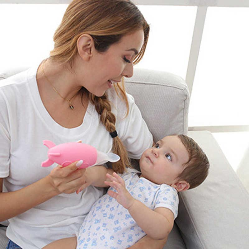 1Pc เด็กทารกใหม่ซิลิโคนบีบช้อนยี่ห้อทารกแรกเกิดขวดช้อน Feeder Biberones Mamadeira (3 สี)
