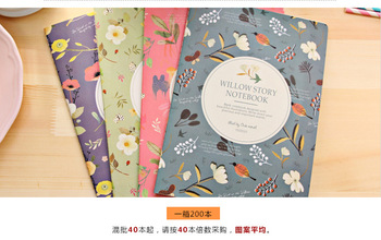 B5 Flowers birds Notebook Exercise Book Diary Notebook Agenda week plan Escolar Papelaria Gift Stationery office School supply plan