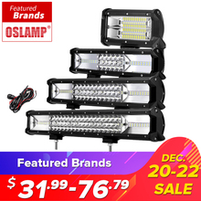 Oslamp 5 «12» 16 «20» 23 «3-Row LED Light Bar Offroad Led Bar Combo Faisceau Led travail Light Bar pour le Camion SUV ATV 4×4 4WD DC12v 24 v
