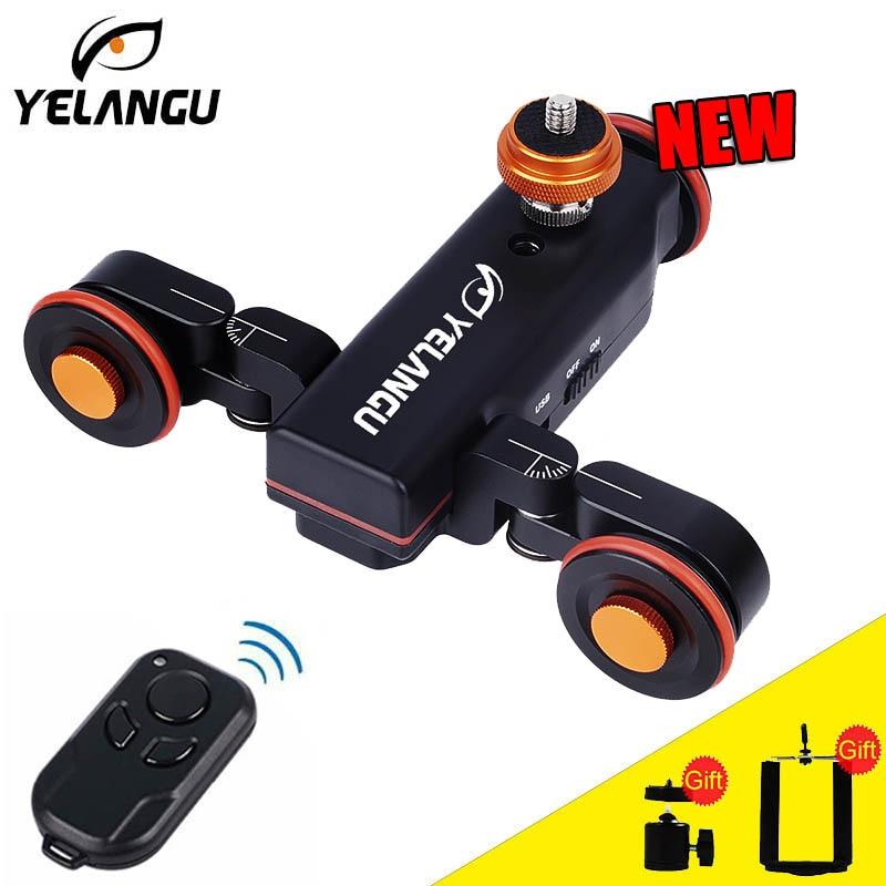 Yelangu L4電動ドリースライダーリモートコントロール電話DSLRカメラ用電動ビデオレールトラックスライダースマートフォンiphone Gopro yelangu l4オートドリー