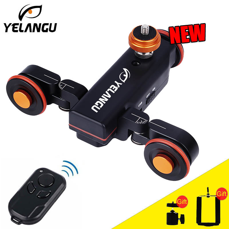 Yelangu L4 Motorized Dolly Slider Remote Control Electric Video Rail Track Slider For Phone DSLR Camera Smartphone iphone Gopro