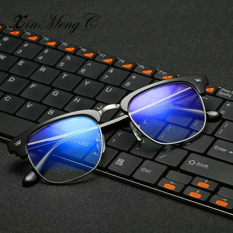 a2a3a52b92 XinMengC Unisex Computer Glasses Clear Lens Non prescription Optical Frames  Fashion Blue Light Blocking Eyewear -in Eyewear Frames from Apparel  Accessories ...