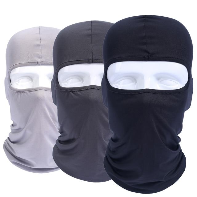60f683e7fa3 Lycra Elastic Balaclava Windproof Full Face Mask Head Cover Hats Cap  Tactical Airsoft Helmet Liner UV