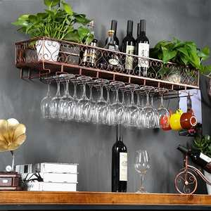 Cup-Holder Glass-Rack Wine Hanging-Goblet Iron-Storage Upside-Down Restaurant Creative