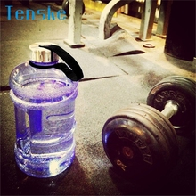 Tenske drinking bottle for sports 2.2L Big Large BPA Free Sport Gym Water Bottle Training Drink Kettle Workout*30 GIFT 2017