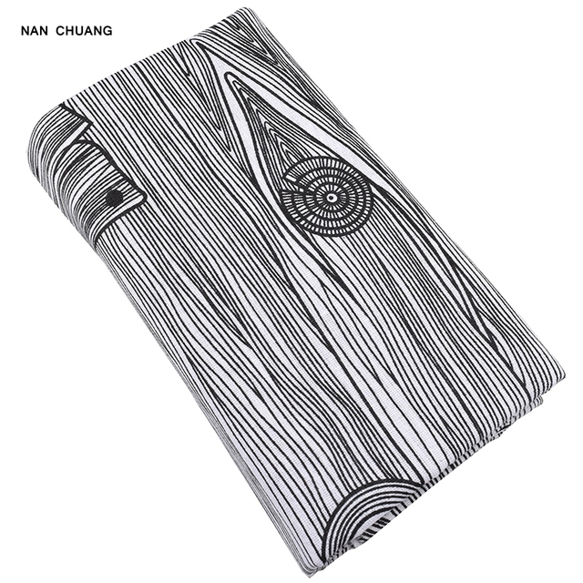 nanchuang wood grain print cotton linen fabric for diy sewing sofa curtain bag cushion furniture cover quilting material
