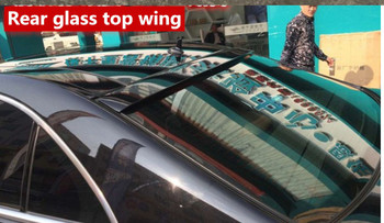 For benz S class w221 Rear glass top wing roof spoiler 2006-2015 S65 style ABS Material  for benz S320 S400 S420 S450 S600