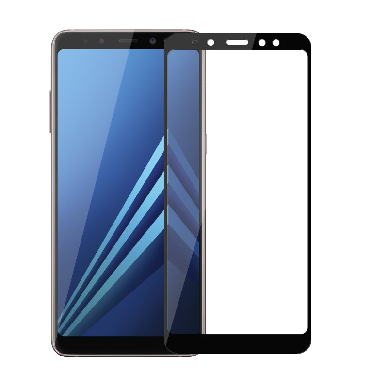 9H Full Cover Tempered Glass For Samsung Galaxy A8 2018 Screen Protector Protective Film For SamsungA8 2018 Protect Film <font><b>A82018</b></font> image