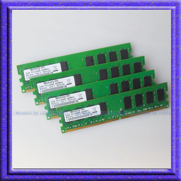Full Test 8GB 4x2GB PC2-6400 DDR2-800MHZ ddr2 pc6400 DDR2 800mhz 240PIN RAM DIMM Desktop Memory Low Density Free shipping