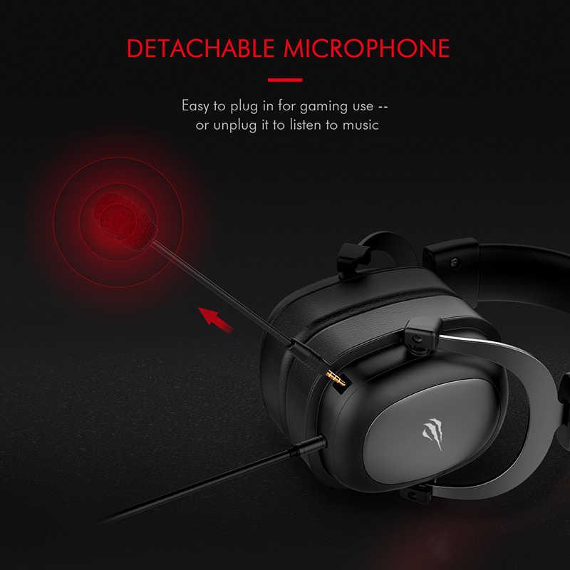 HAVIT Wired אוזניות גיימר מחשב 3.5mm PS4 אוזניות סראונד & HD מיקרופון משחקי Overear מחשב נייד Tablet גיימר