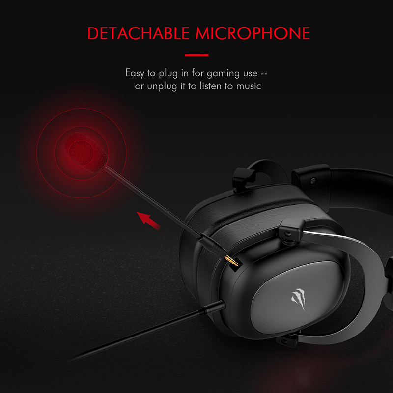 HAVIT Wired Headset Gamer PC 3.5mm PS4 Headsets Surround Sound & HD Microphone Gaming Overear Laptop Tablet Gamer 1
