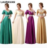 gold emerald green purple long purple women elegant red blue modest gown for bridesmaid dresses woman dress bride gown