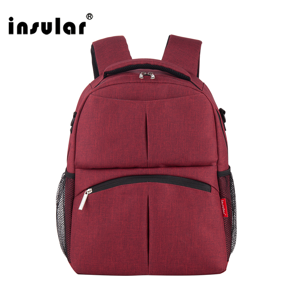 insular Mother Bag Baby Nappy Changing Pad Bags Large Capacity Maternity Mummy Diaper Backpack Stroller Pouch Backpack 5 in 1 diaper bag set baby changing maternity infant stuff storage tote nappy bags mummy storage bags fashion baby stroller bags