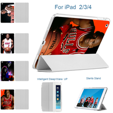 MTT for Apple ipad 2 ipad 3 ipad 4 Tablet Case Smart Sleep Wake Thin Light PU Leather Holder Back Basketball superstar Cover