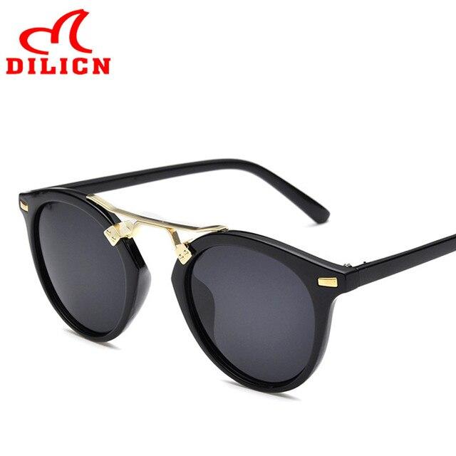 DILICN Brand Fashion Casual Design Women Sunglasses Decoration Summer UV400  Sun Glasses Hot Sale Men Vintage Retro Rivet Eyewear 96786116c4