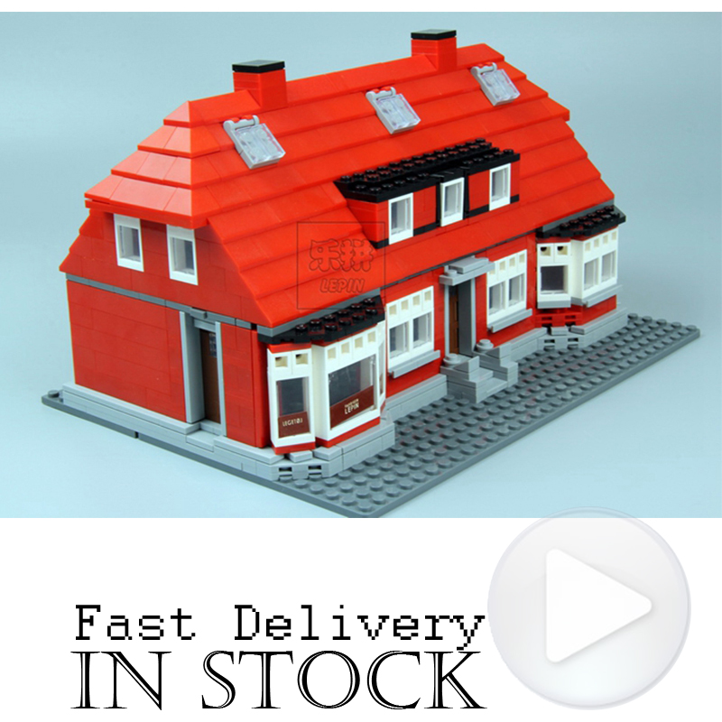 928PCS LEPIN 17006 Ole Kirk's House Modular Miscellaneous Building Bricks Blocks Toys For Children Compatible 4000007 lepin creator home 17006 928pcs the red house set model 4000007 building kits blocks bricks educational toys for children gifts