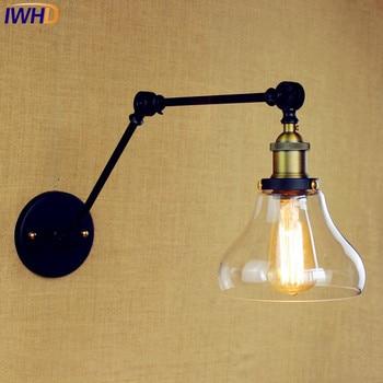 Antique Style Loft Industrial Wall Lights Wandlamp Edison Swing Long Arm Wall Lamp Vintage Sconces Appliques Luminaires Murales