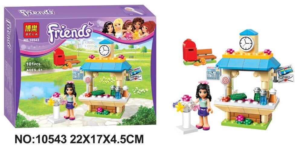 BELA Friends Series Emmas Tourist Kiosk Building Blocks Classic For Girl Kids Model Toys Marvel Compatible Legoe