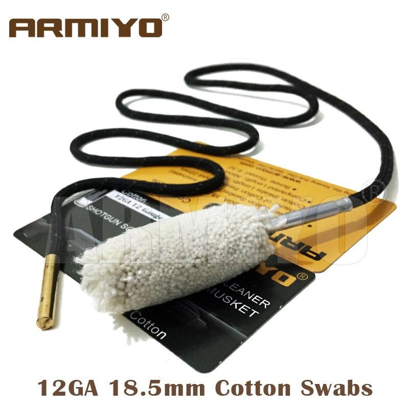 Armiyo хлопок 12GA 18,5 мм ствол чище чистящие тампоны съемки Принадлежности для охоты резьбе Размеры 8-32