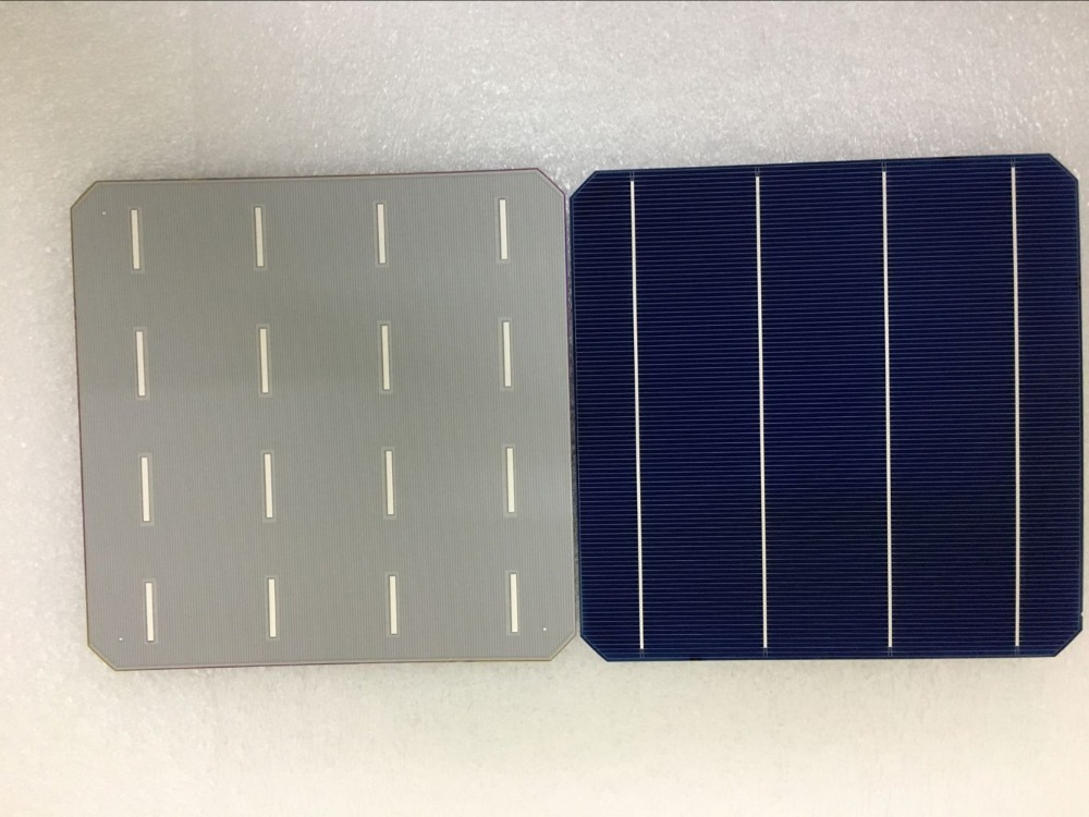 60Pcs 5W/Pcs Monocrystalline Solar Cell 156.75 * 156.75mm For DIY Photovoltaic Mono Solar Panel