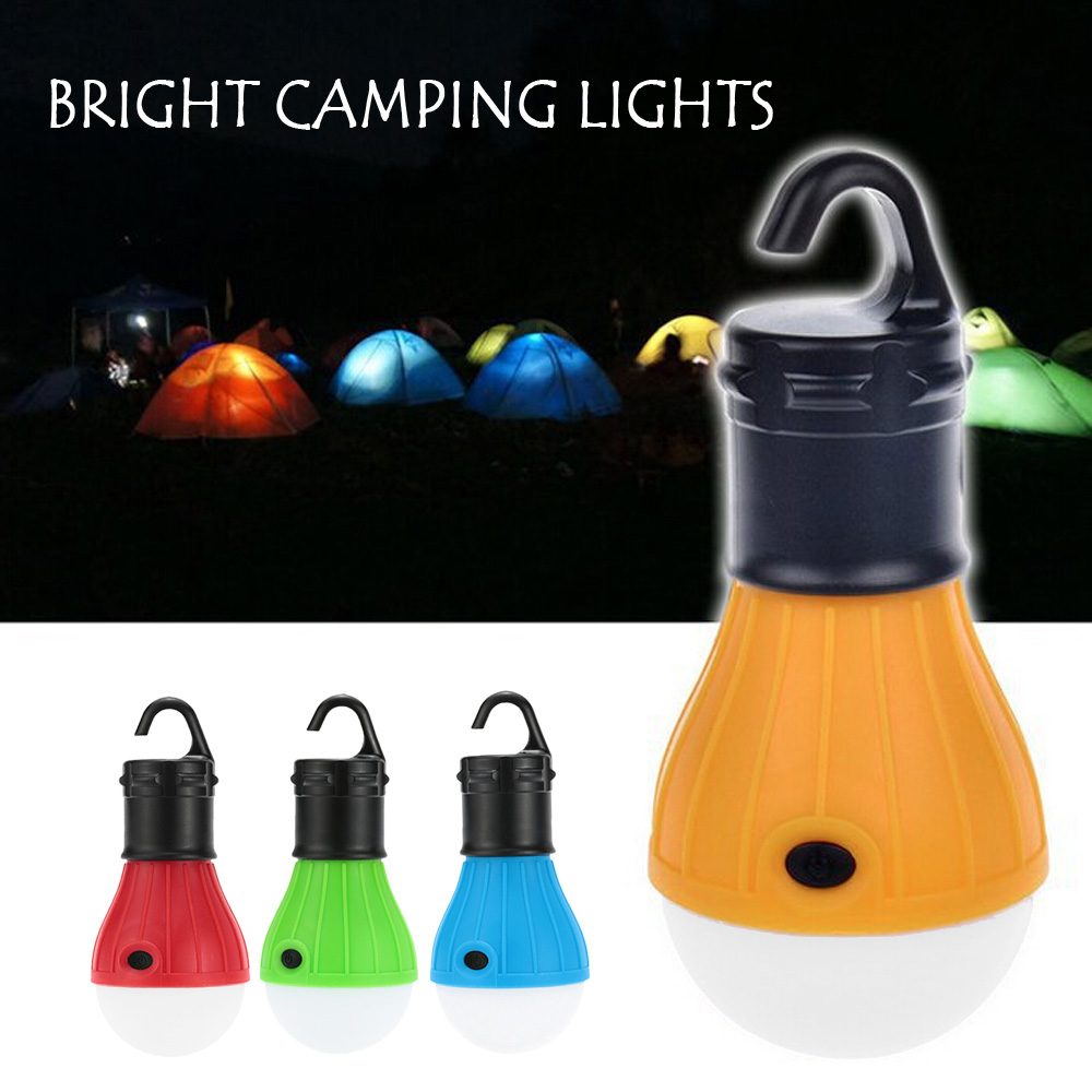 Portable Multifunction Tent Lamp Camping Light 3 LED Waterproof Outdoor Hanging Lighting Lanterna Powered By 3