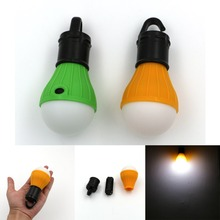 Portable LED Light outdoor Hanging 3-LED Camping Lantern Soft Light Camp Lights Bulb Lamp For Camping Tent Fishing Light