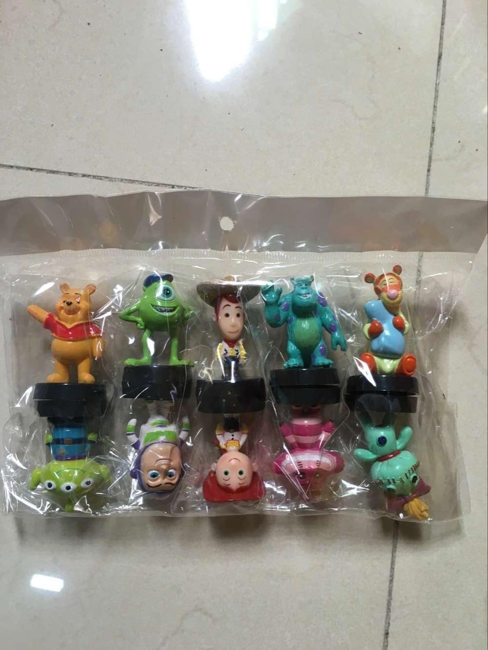 Free Shipping Anime Cartoon Toy Story 3 Buzz Lightyear Woody Mini PVC Figure Toys Dolls Child Toys Gifts 10pcs/set DSFG133 free shipping toy story 3 sheriff woody posable figure retail box t 020
