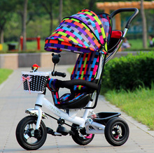 Inflatable Pneumatic wheels tricycle wheel stroller baby bicycle bike ride on cars kids children outdoor fun sports 3 in 1 brand